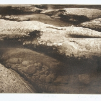 Intaglio print Rock Pool