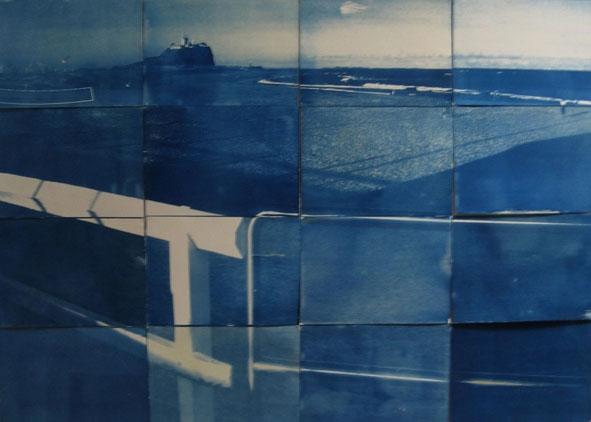 Cyanotype panels Summer towards Winter