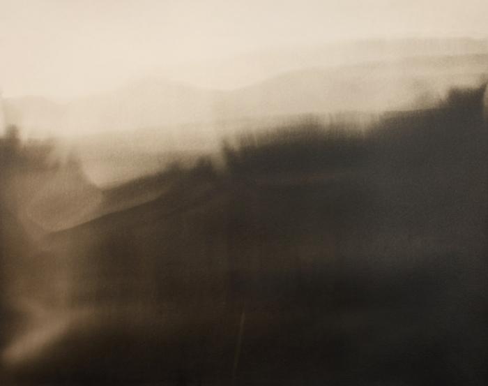 Photogram painted alchemy landscape