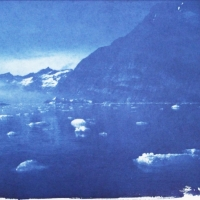 Cyanotype Greenland floating ice