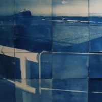 Cyanotype panels Summer towards Winter