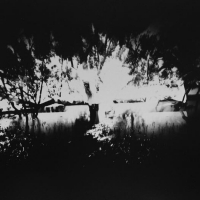 Pinhole Double River View contact print paper neg