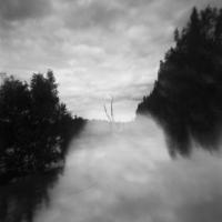 Pinhole double exposure landscape