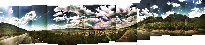 Cross processed Holga Crowley Lake