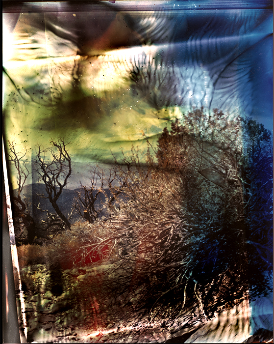 Film acceleration Inyo White Mountain vista pinhole
