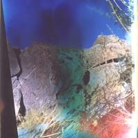 Film acceleration East Sierra Petroglyph site pinhole