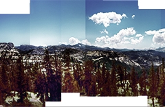 Cross processed Holga Cathedral Pass