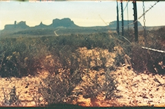 Film acceleration Monument valley panorama pinhole