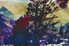 Film acceleration Thousand Island Lake sunset pinhole
