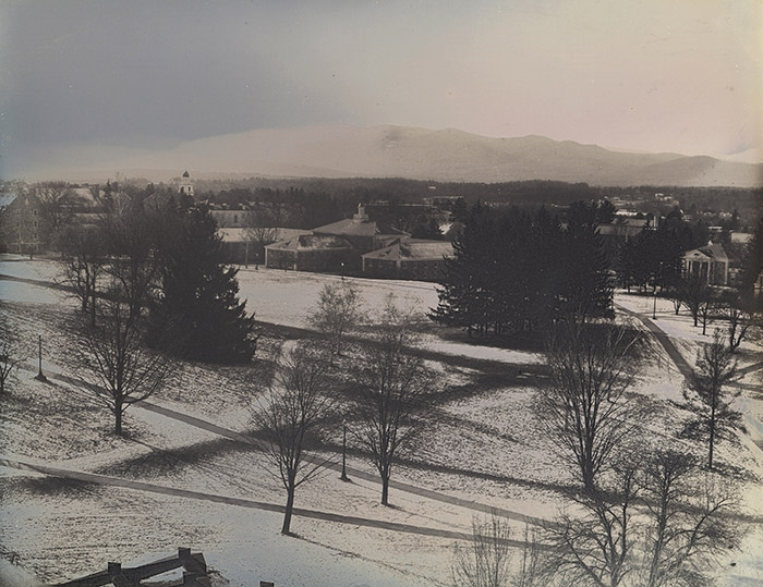 Daguerrotype Birdseye View of Middlebury College