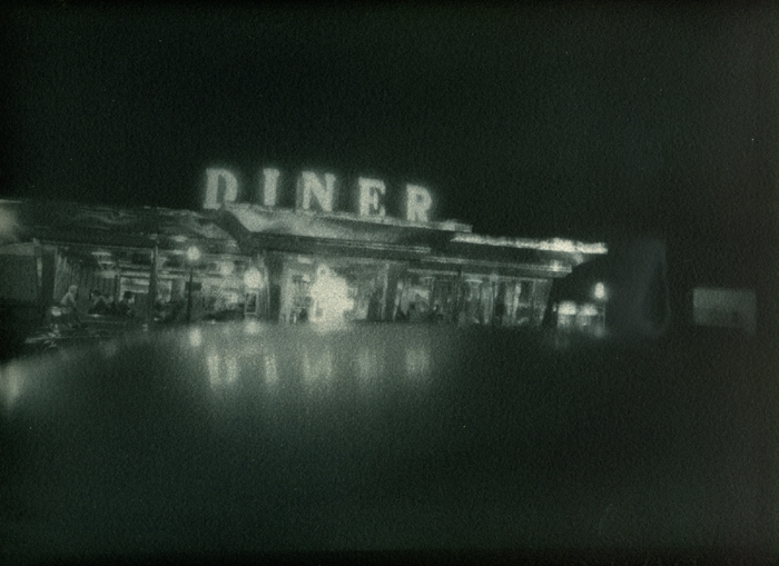 Gum bichromate Diner at Night