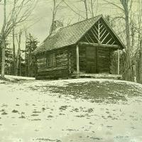 Daguerrotype Printer's Cabin at Breadloaf