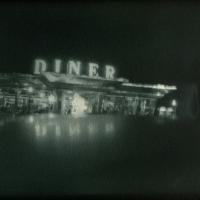 Gum bichromate Diner at Night