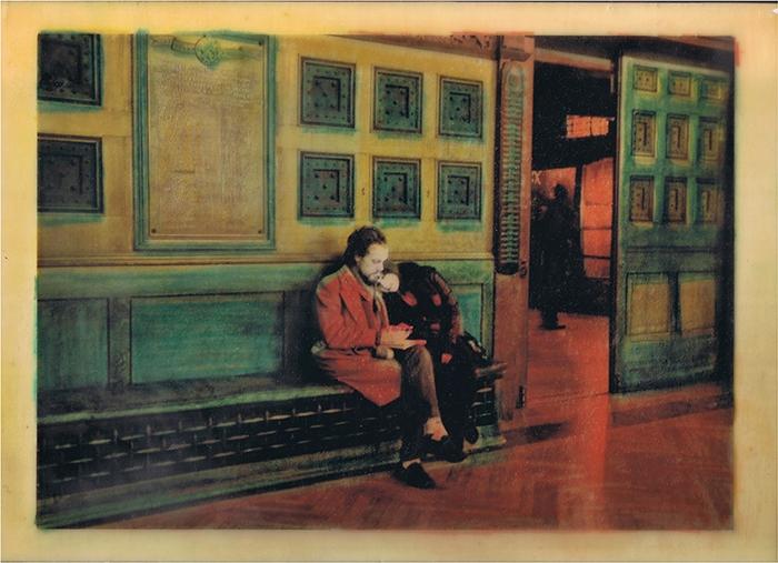 Encaustic print Lovers on 5th Avenue