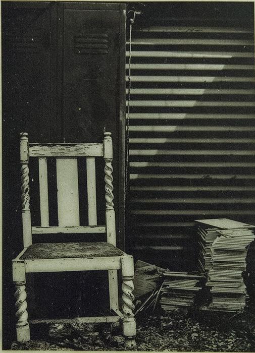 Encaustic print Outback Chair