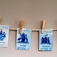 Cyanotype Australian States and Territories Prayer Flag
