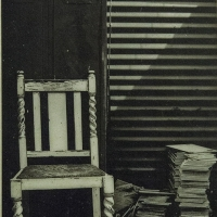 Encaustic print Outback Chair