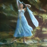 Gum bichromate Dancer on the Rocks