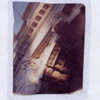 Polaroid emulsion lift Arch of Titus Forum Roma