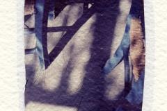 Polaroid emulsion lift Chairs Santorini