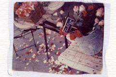 Polaroid emulsion lift Flower shop Paris
