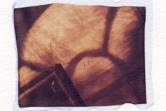 Polaroid emulsion lift Morning Mahoney House Oklahoma
