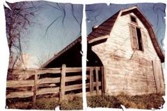 Polaroid emulsion lift Farm house lift