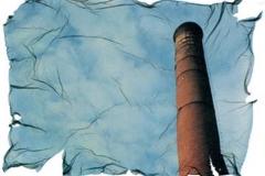 Polaroid emulsion lift Smoke stack