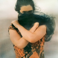 Tri Color Gum Bichromate Veiled Woman