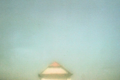Tri Color Gum Bichromate Zone Plate Saint Sebastian on the Hill
