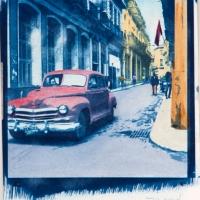 Cyanotype with acrylics Cuba - BDM483