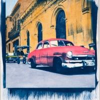 Cyanotype with acrylics Cuba - HCF926