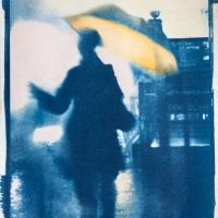 Cyanotype with acrylics In the Rain