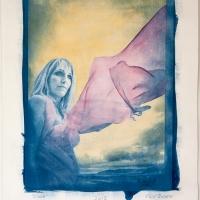 Cyanotype with acrylics Portrait - Didda