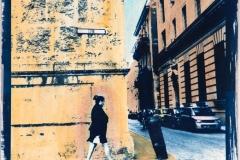 Cyanotype with acrylics Cuba - Cuba Street