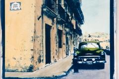 Cyanotype with acrylics Cuba - HEX382-I