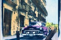 Cyanotype with acrylics Cuba - HEX392-II