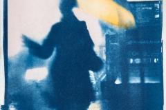 Cyanotype with acrylics In the Rain