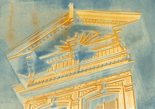 Vandyke over cyanotype Victoriana