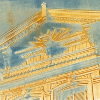 Vandyke over cyanotype Victoriana