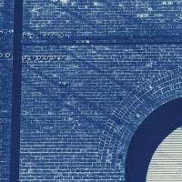 Cyanotype Train Barn