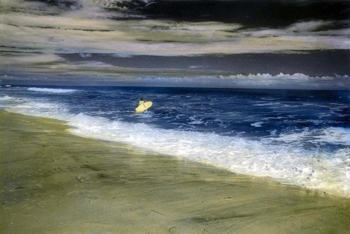 Handpainted-Surfer-Near-Shore