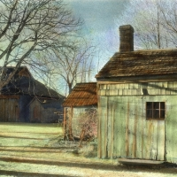 Handpainted infrared Riverhead Barns