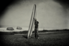 Pinhole print Biarritz longboard surf