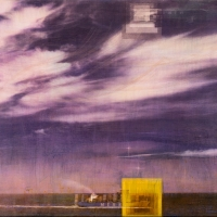 Gum bichromate on panel Afterglow v2