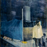 Gum bichromate on panel Home 5 - now we are free
