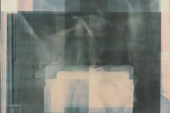 Gum bichromate on panel Pieta
