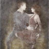 Bromoil Salsa dancers #1