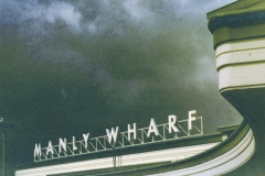 Cyanotype over inkjet Manly Wharf