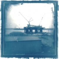 Cyanotype Oil Rig